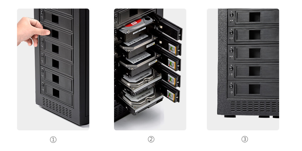 the 3.5 inch hard drive enclosure is Easy to Use