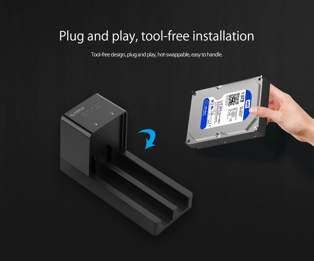 plug and play,tool-free installation