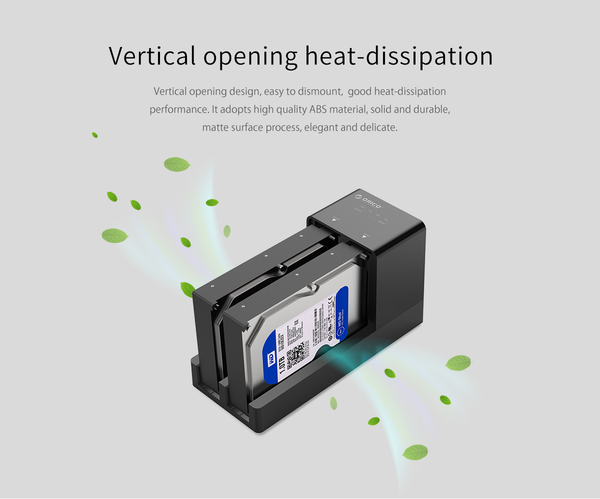 vertical opening heat-dissipation