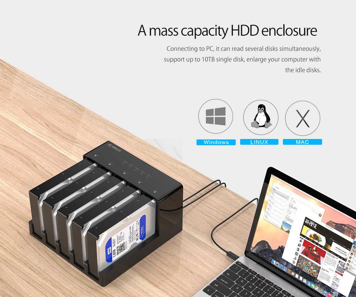 a mass capacity HDD enclosure