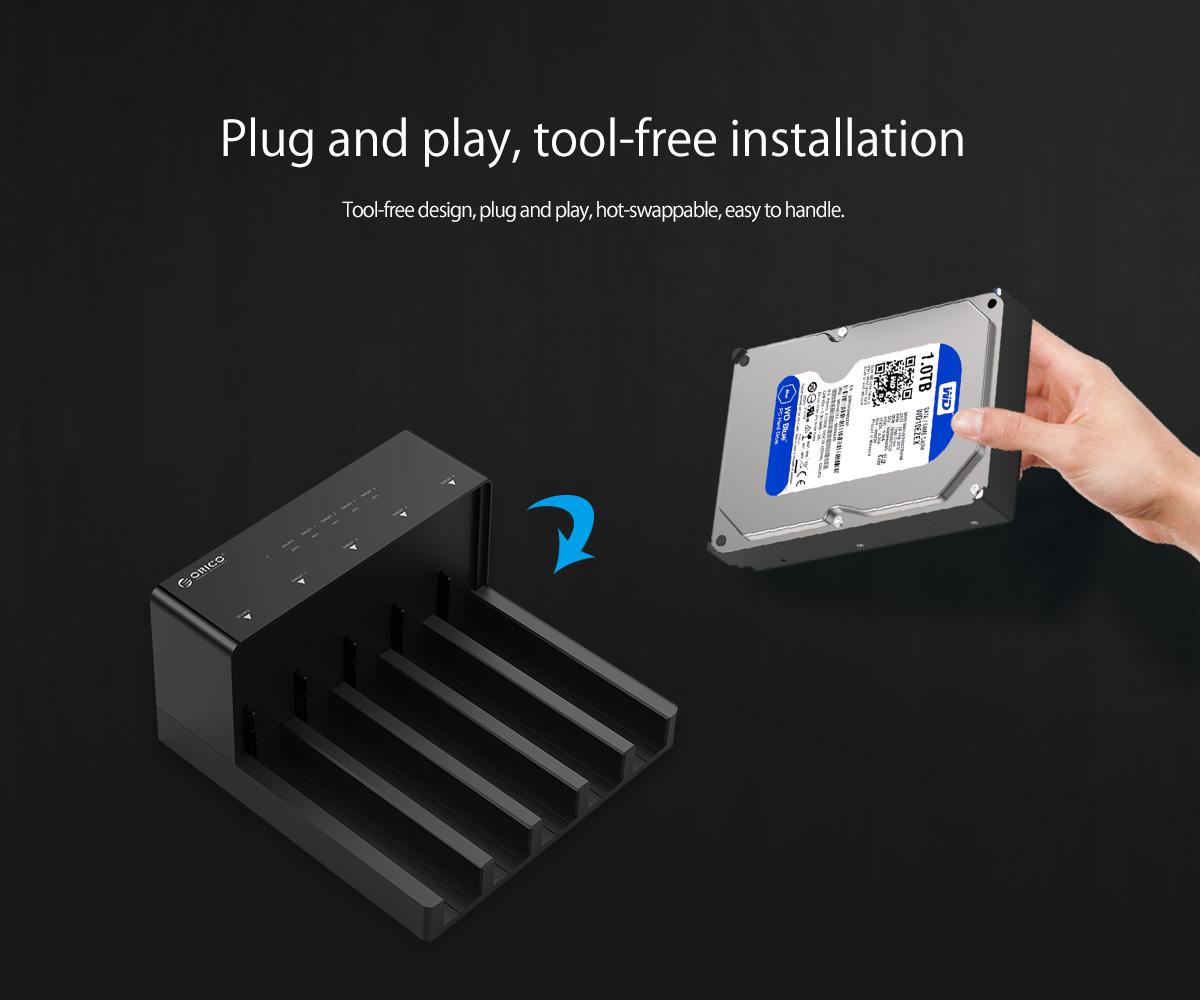 plug and play,tool-free installation
