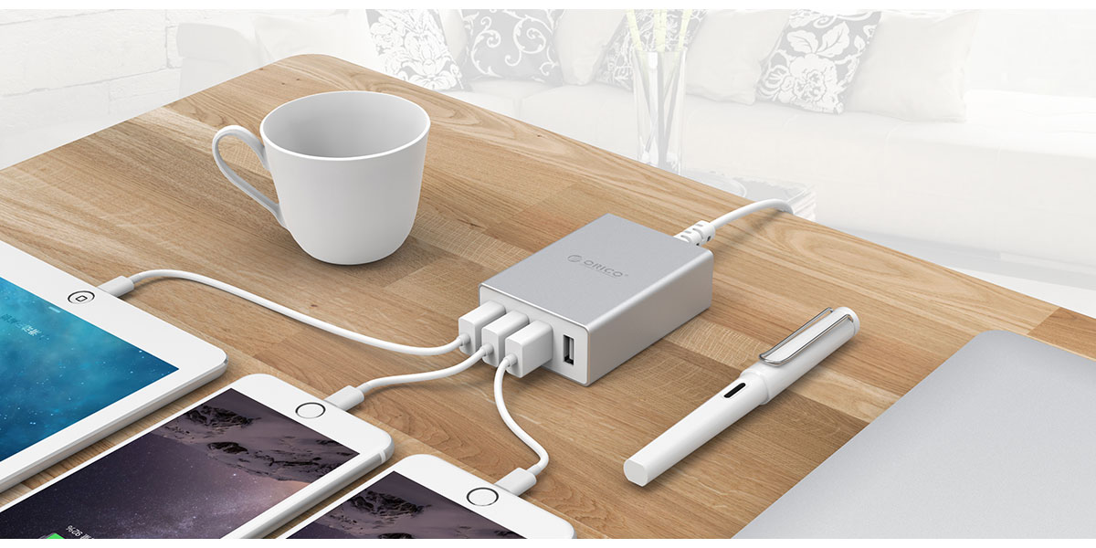 multi-port desktop charger