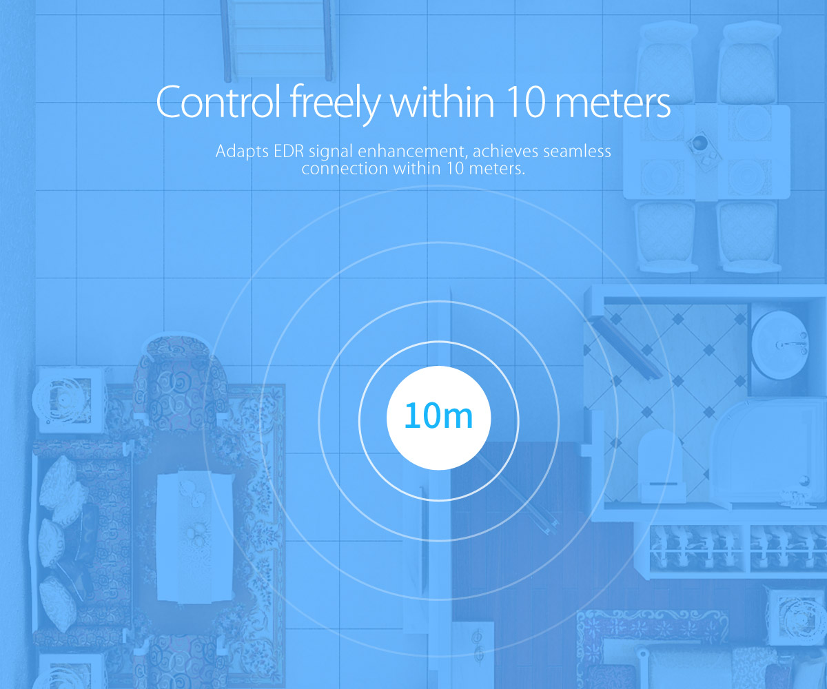 control freely within 10 meters