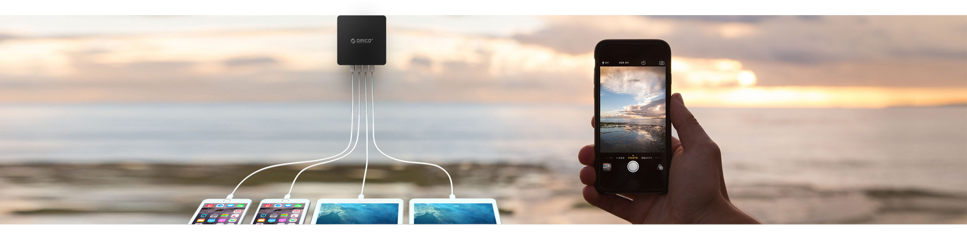 ORICO 30W 4 ports USB Super Charger
