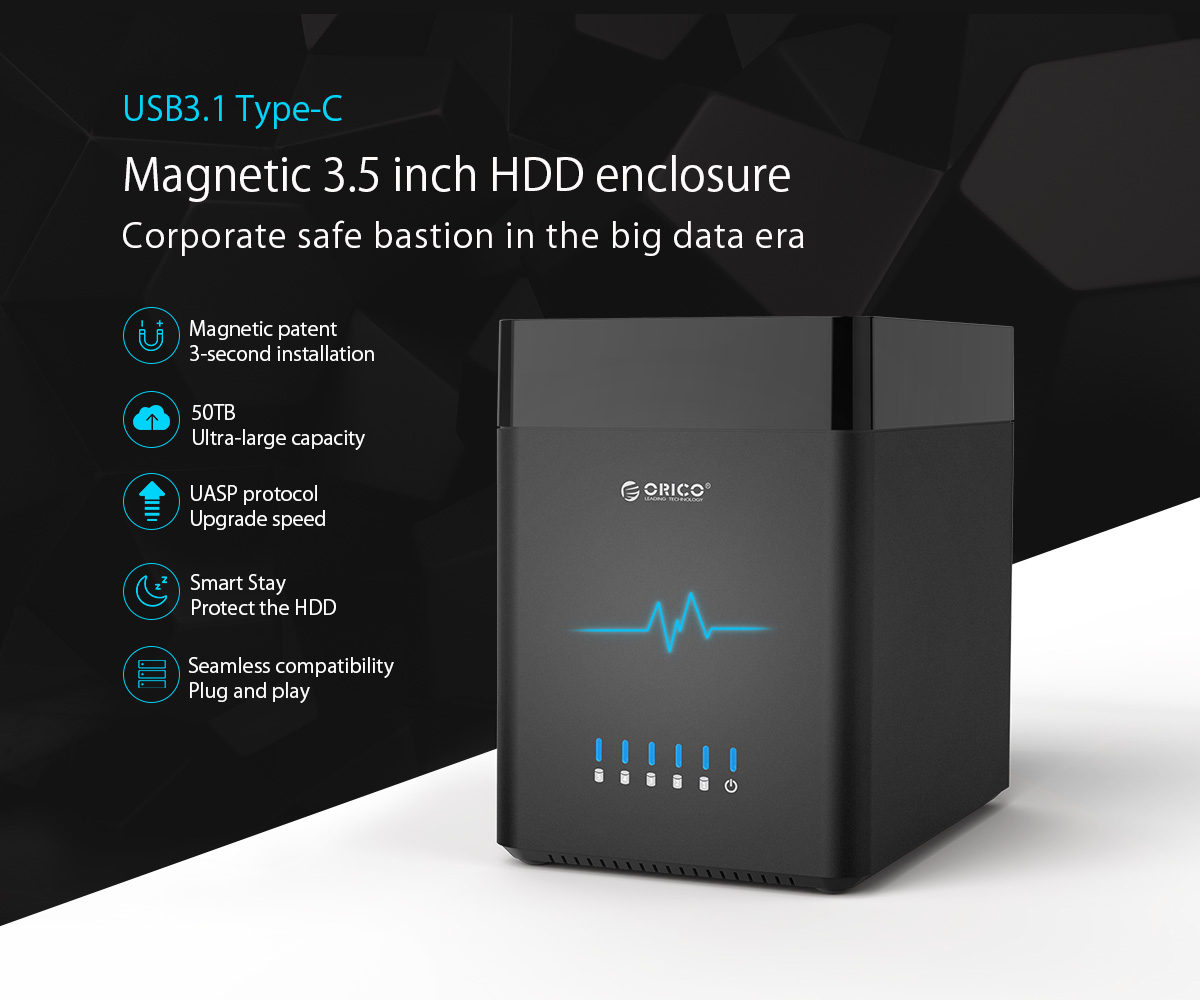 type-C magnetic 3.5 inch hdd enclosure