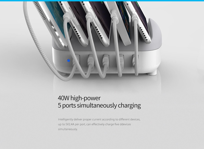 5-port 40W high-power