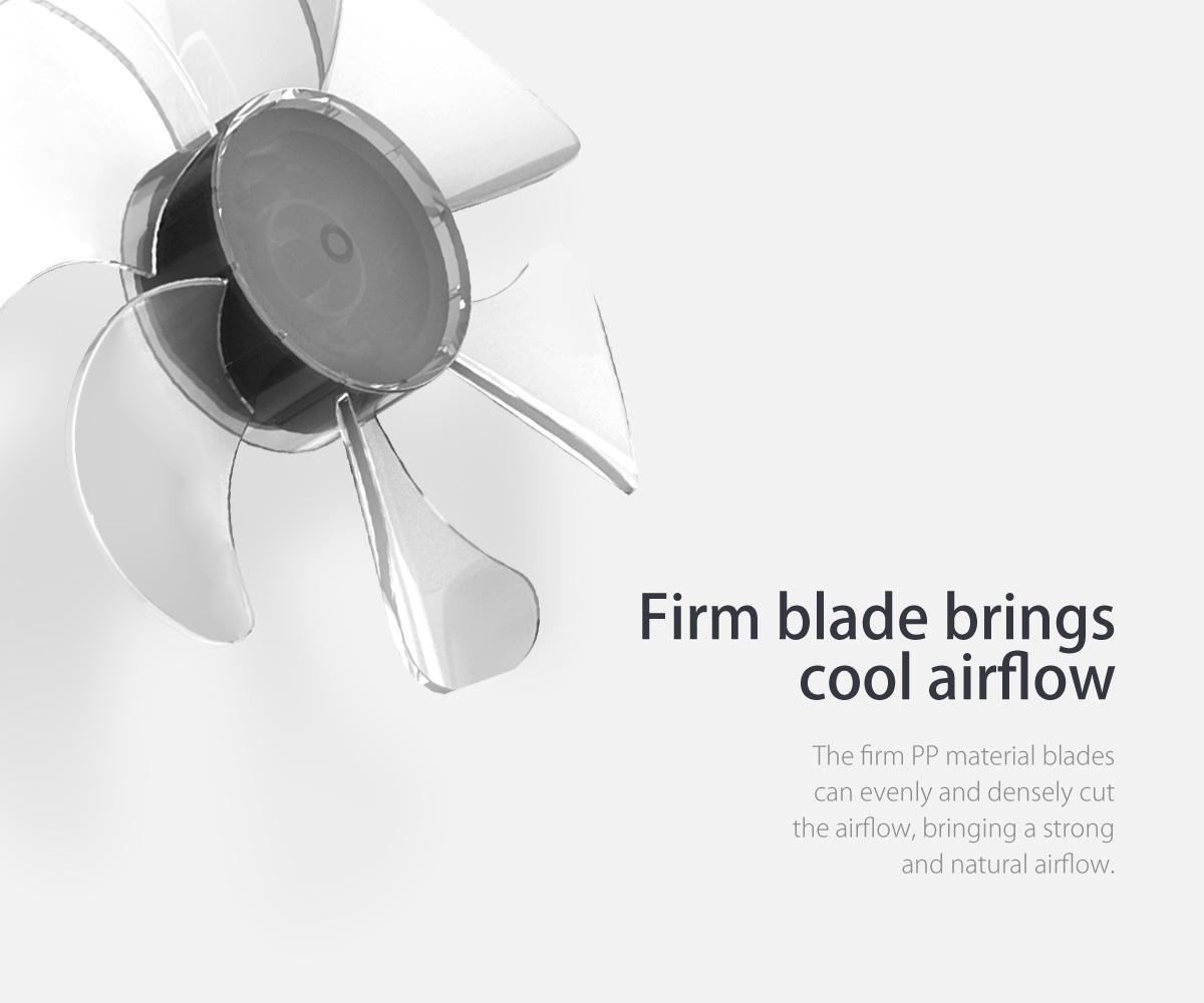 firm blade brings cool airflow
