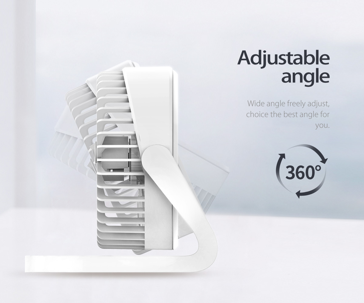 the mini fan is with adjustable angle