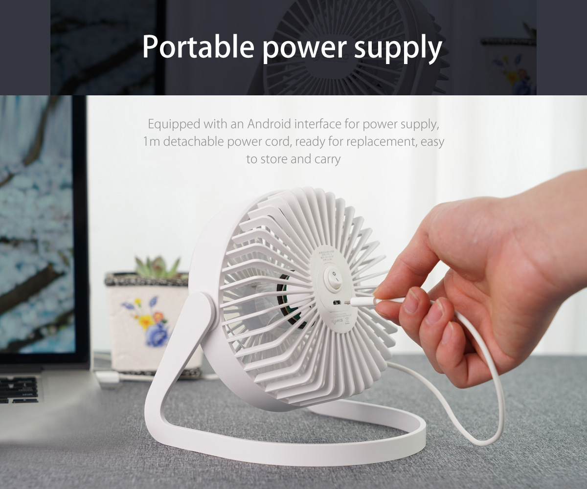 the fan is reserved with usb port, portable power supply