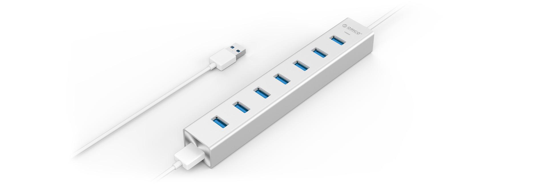 Orico H7013 U3 Sv Alumium 7 Ports Usb30 Hub Usb 4 Port Df4u Ultra Mini 30 Magnesium Aluminum Alloy The Same As Mac Products