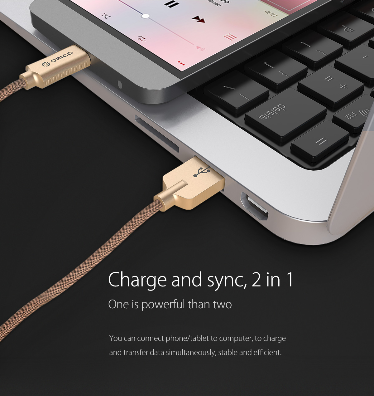 charge and sync,2 in 1