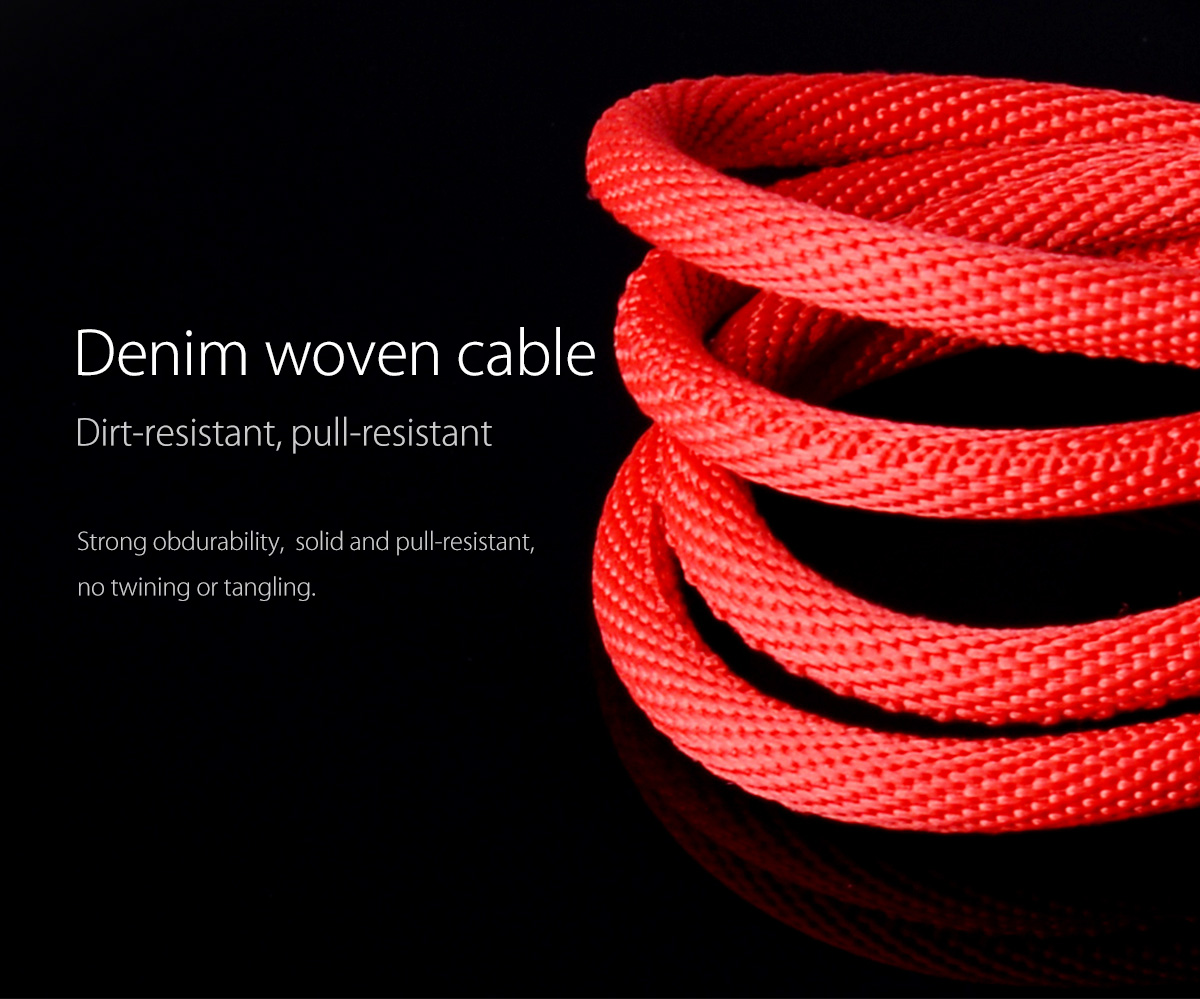 denim woven cable,dirt-resistant,pull-resistant