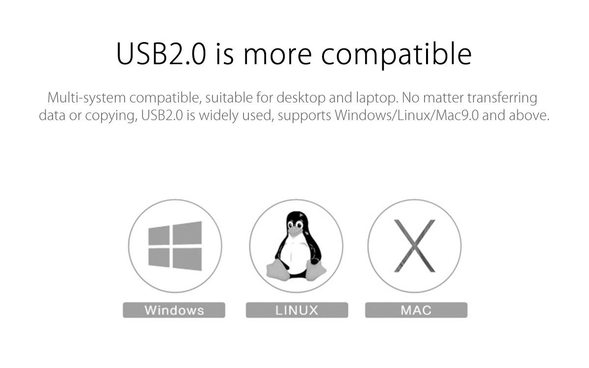 multi-system USB2.0 compatibility
