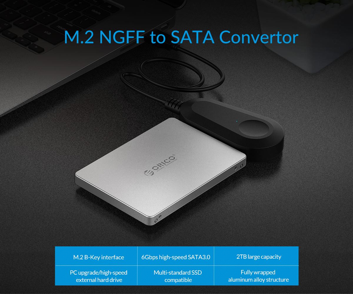 M.2 NGFF/MSATA to SATA convertor