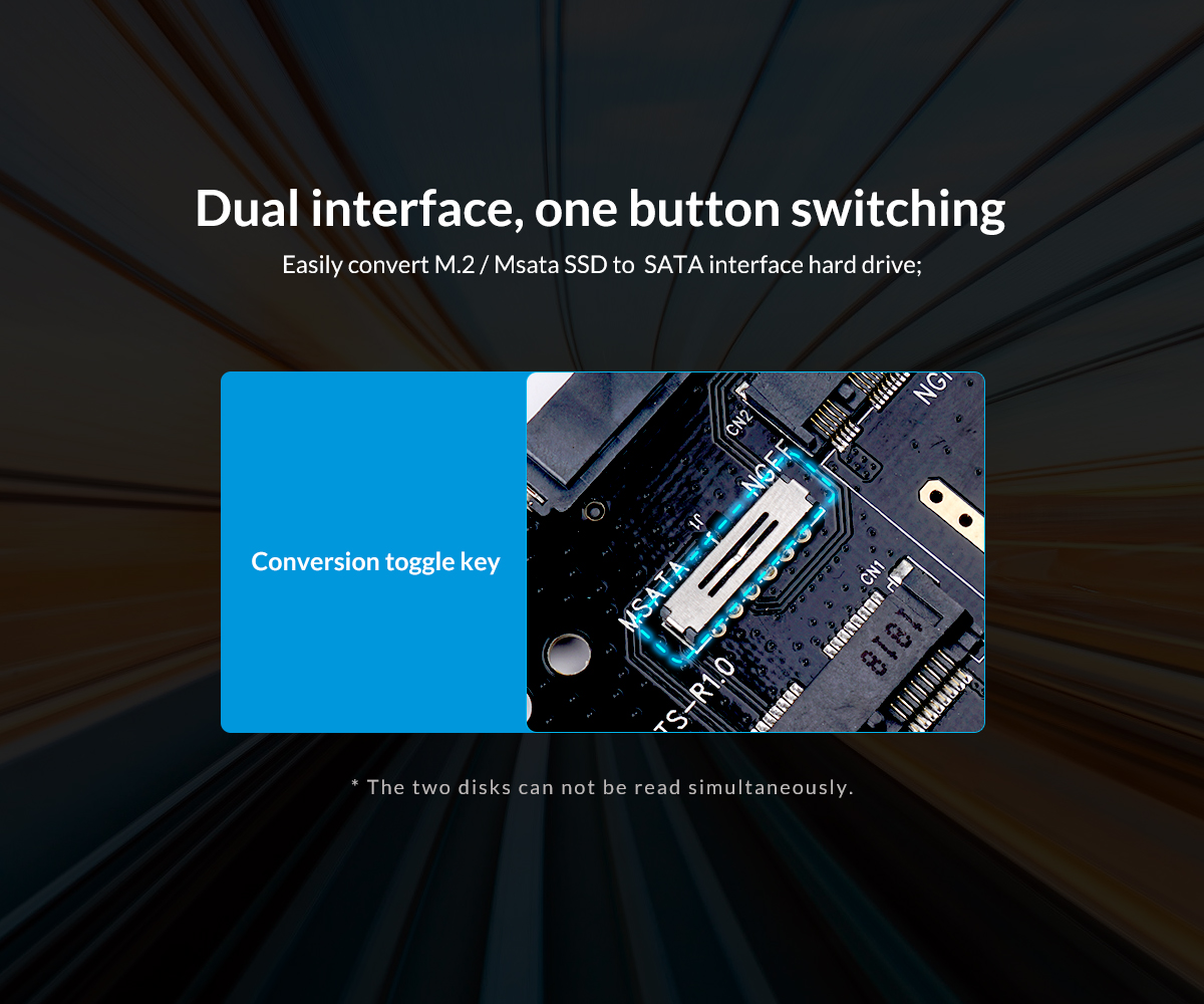 dual interface, one button switch