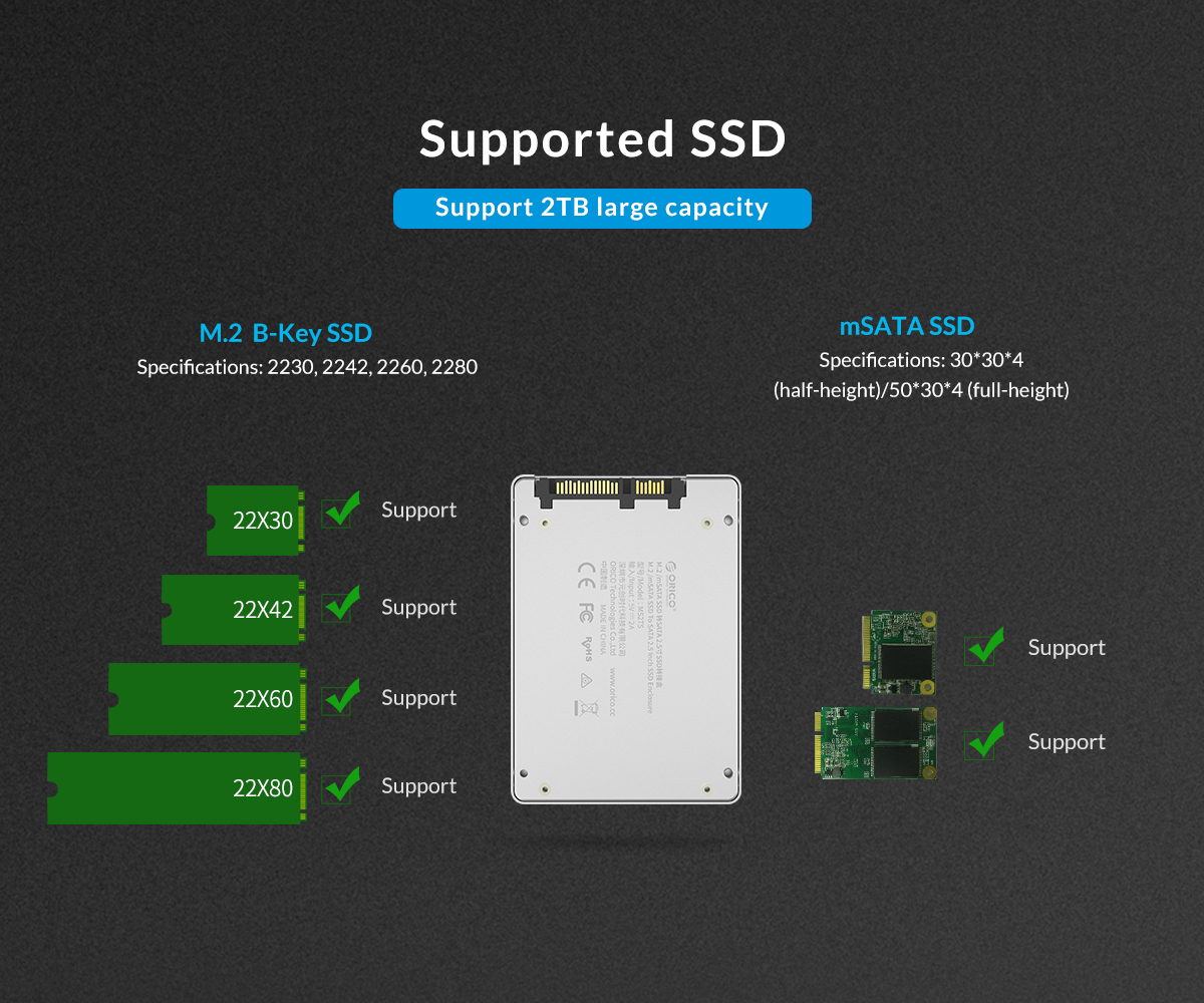 support 2TB large capacity
