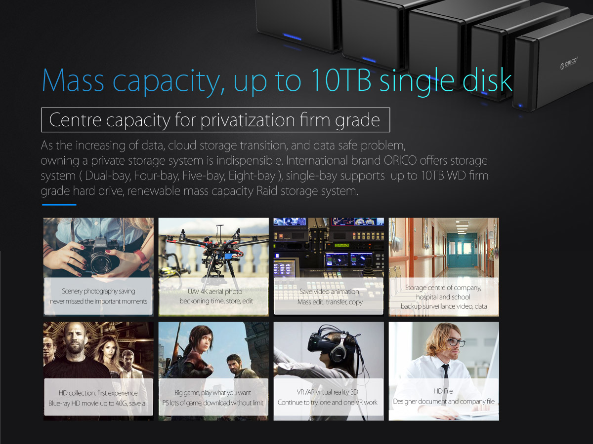 massive capacity, up to 10TB single disk