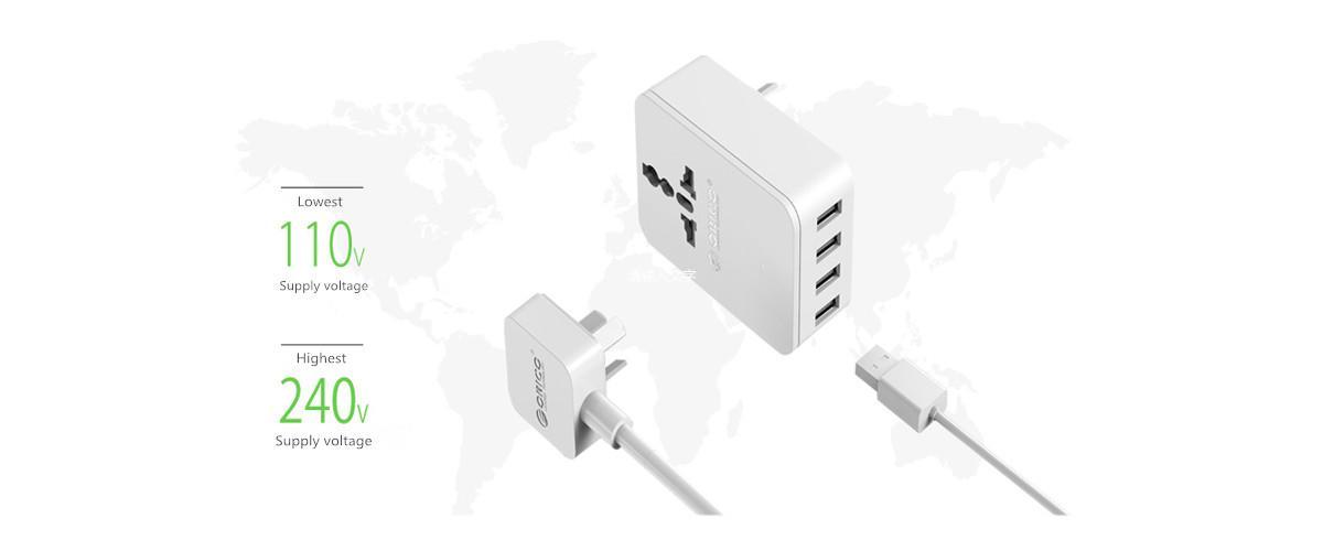 110 - 240V wide voltage supported