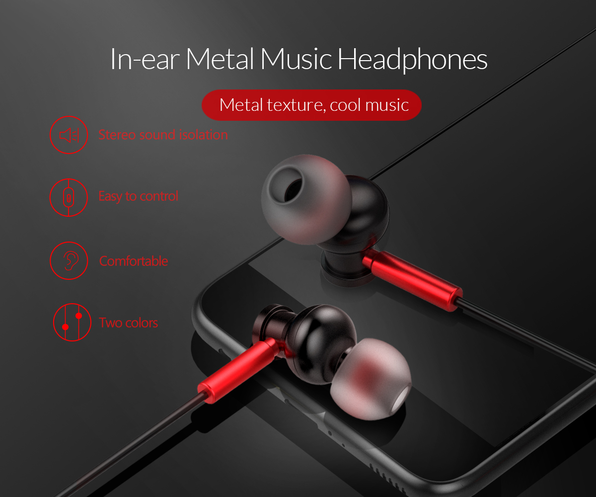 in-ear music metal headphones