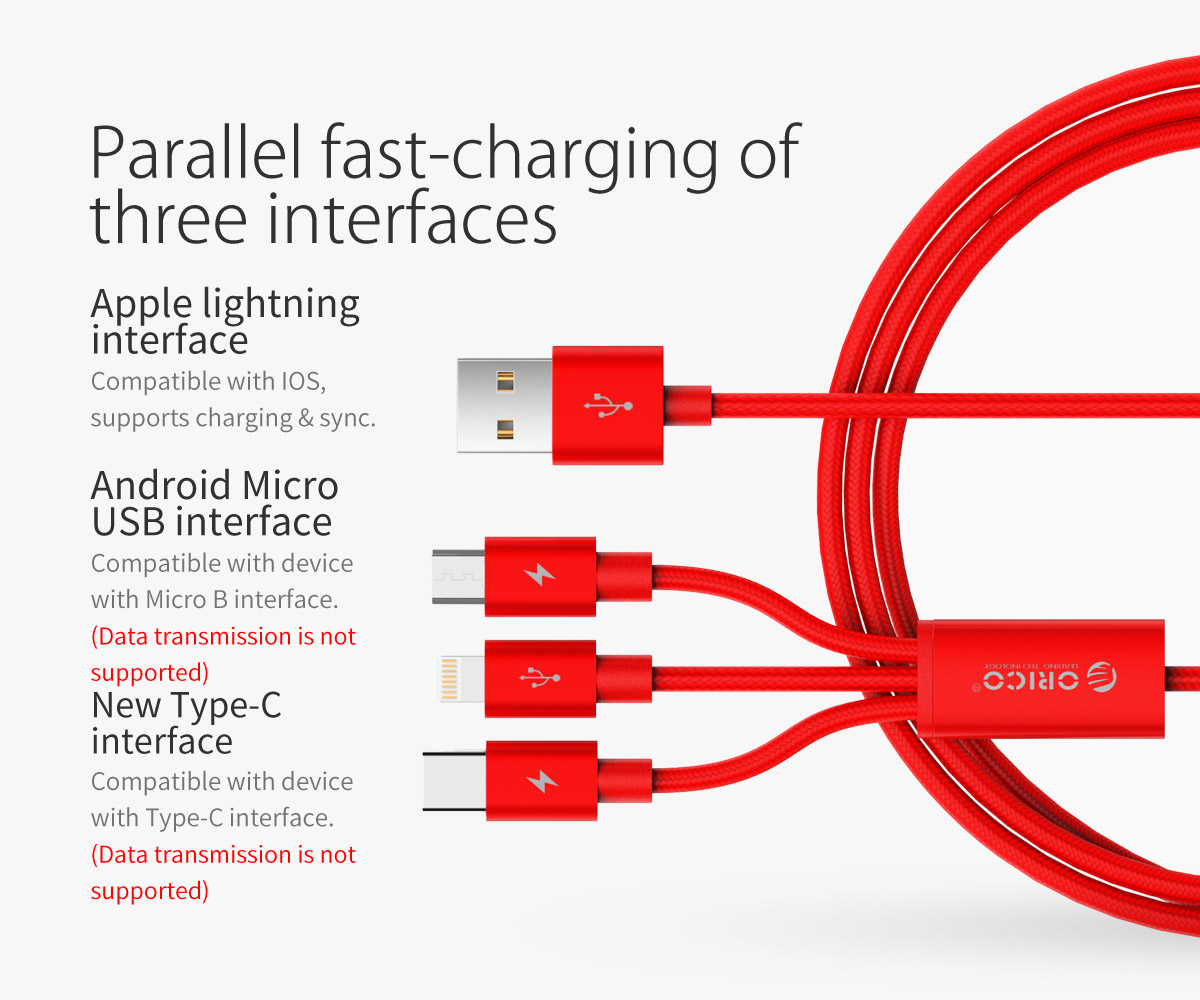 parallel fast-charging of three interfaces