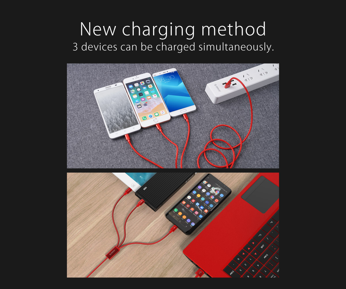 3 devices can be charged simultaneously