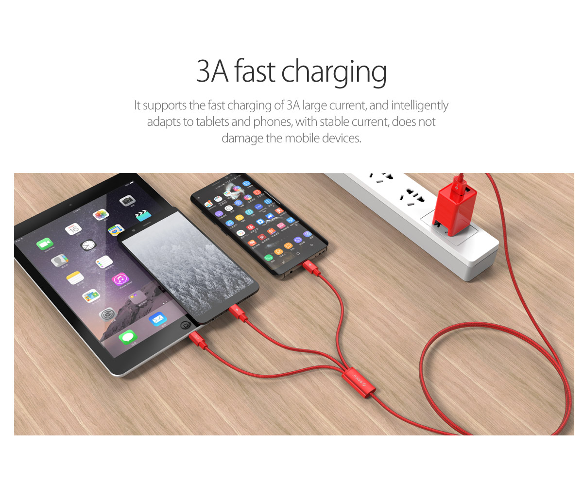 3A fast charging