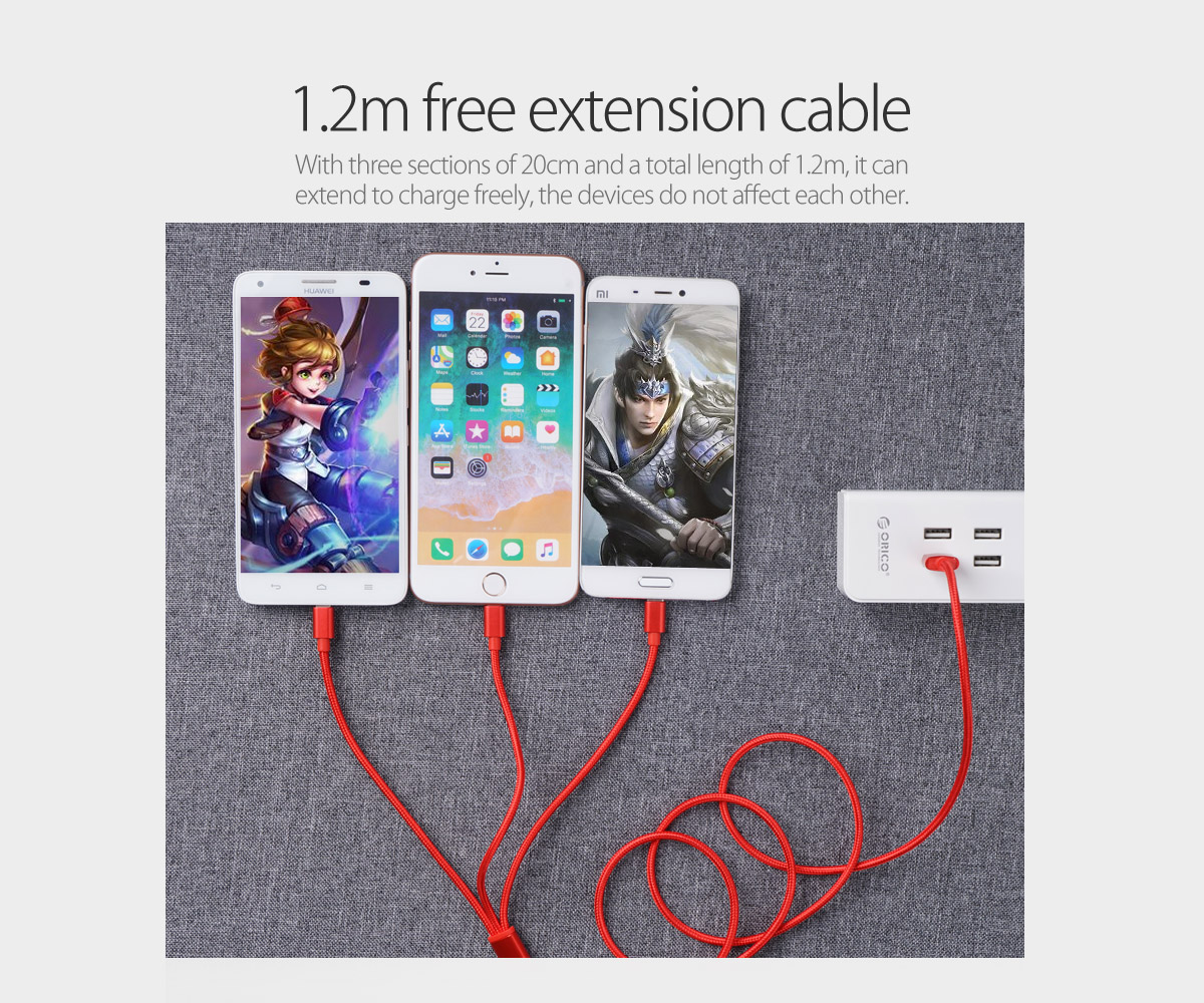 1.2m free extension cable