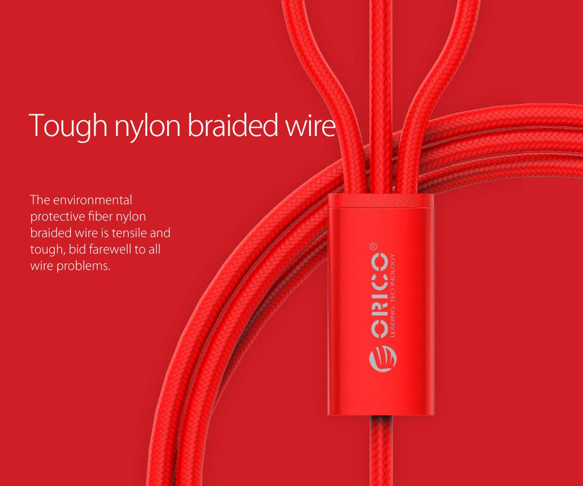 tough nylon braided wire