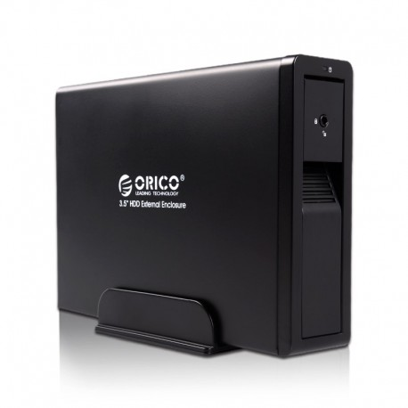 ORICO 7618SE3 3.5 inch SATAIII to USB3.0 & eSATA External Hard Drive Enclosure With Safety Lock - Black