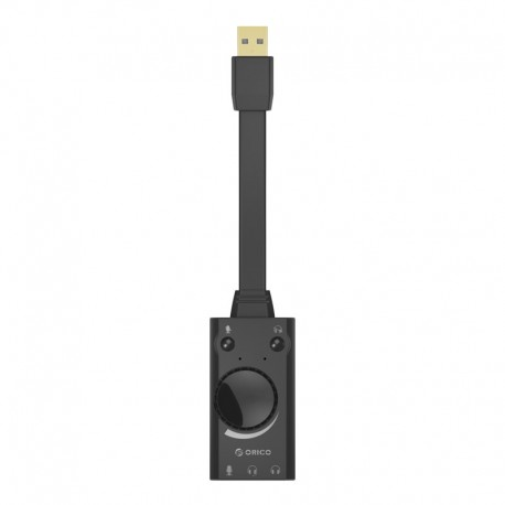 ORICO SC1 Driver Free USB External Sound Card with 2 headset port + 1 Microphone Port