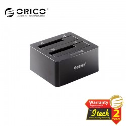 ORICO 6629US3-C USB 3.0 to SATA Dual Bay External HDD Docking Station for 2.5 or 3.5 Inch HDD, SSD with HDD Duplicator Function
