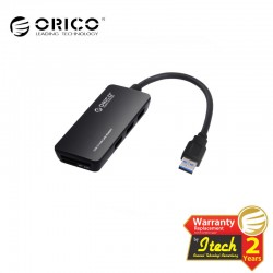 ORICO H3TS-U3 USB 3.0 3-Port USB Hub with card reader