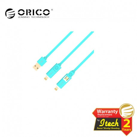 ORICO LTE-10 Lightning or Micro USB to USB2.0 Faster Charging or Sync Cable - 1 meter