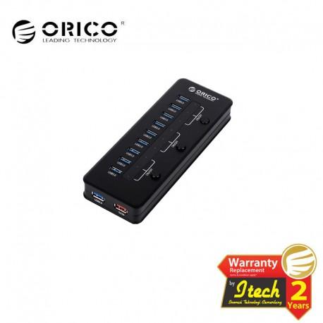 ORICO H10C1-U3 Super Speed USB 3.0 10Port Hub With 5V/2.1A Charger Port