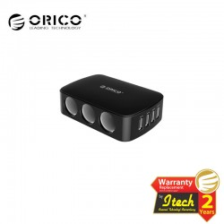 ORICO MP-4U3S ( 4 USB Charging Ports + 3 Cigarette Lighters )
