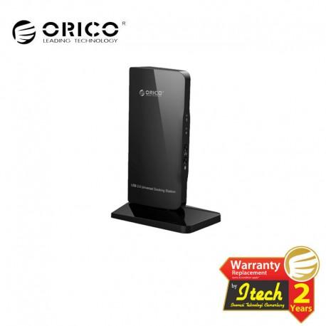 ORICO U3HV-S3 2 Port USB3.0 Universal Docking Station with RJ45 / DVI / HDMI / MIC / Audio Port - Black