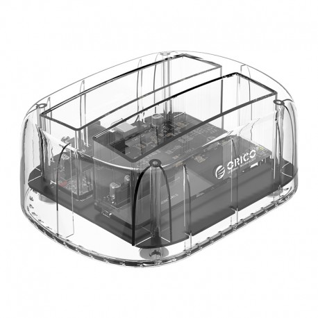 ORICO 6239U3-C 3.5/2.5inch 2 Bay Transparent USB3.0 Docking with Clone Function