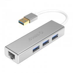 ORICO  XD-U31 USB3.0 Gigabit Ethernet Adapter + USB3.0 HUB